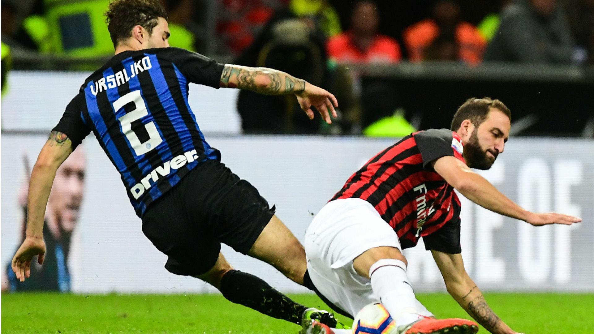 Higuain Vrsaljko Inter Milan Serie A