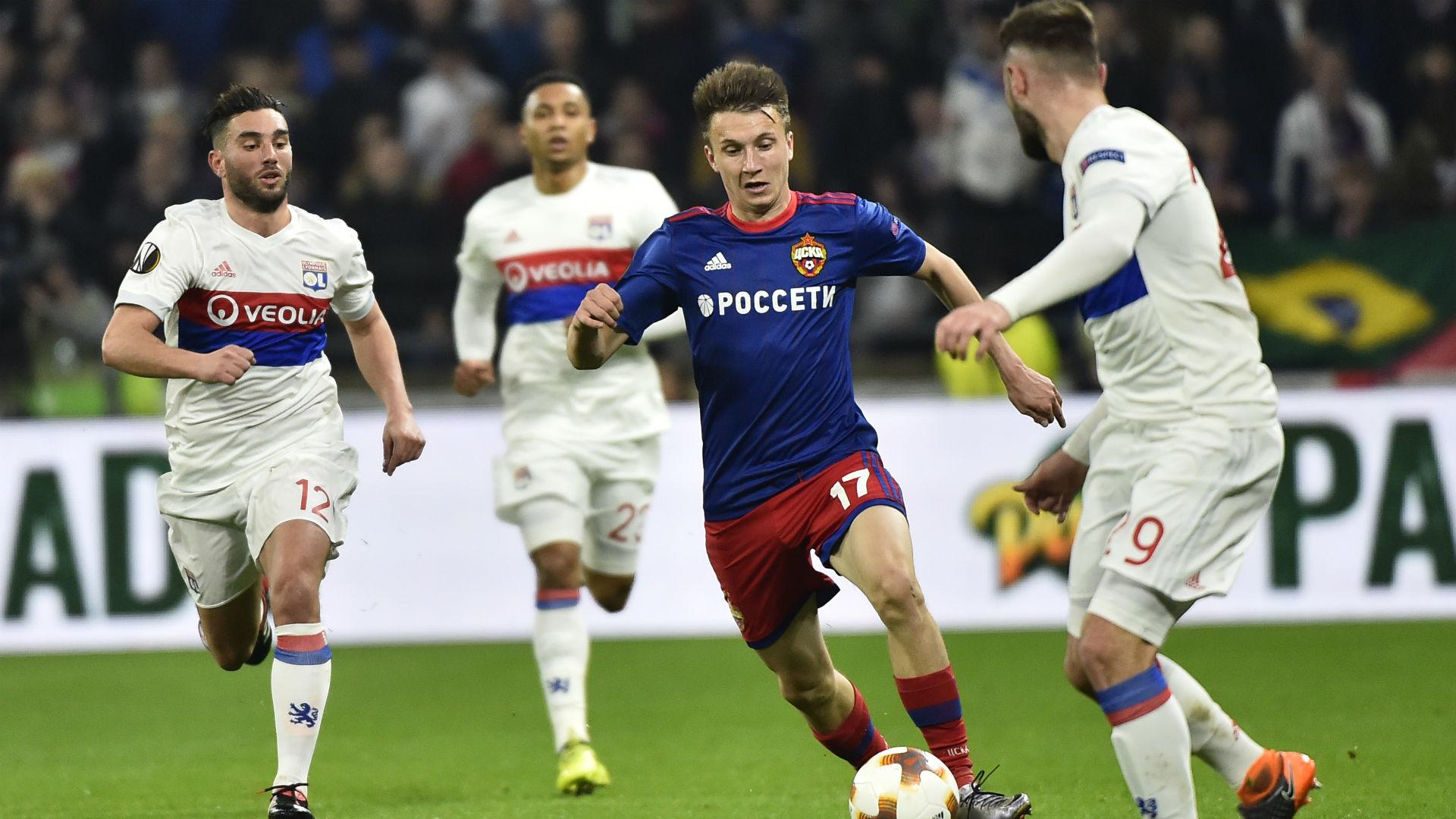 Alexandre Golovin Jordan Ferri Lyon CSKA Moscou UEFA Europa League 15032018