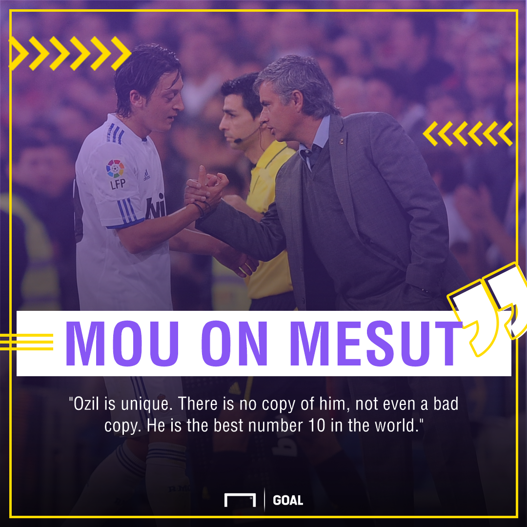 Jose Mourinho quote on Mesut Ozil