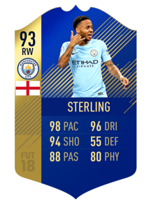 FIFA 18 Team of the Season Sterling