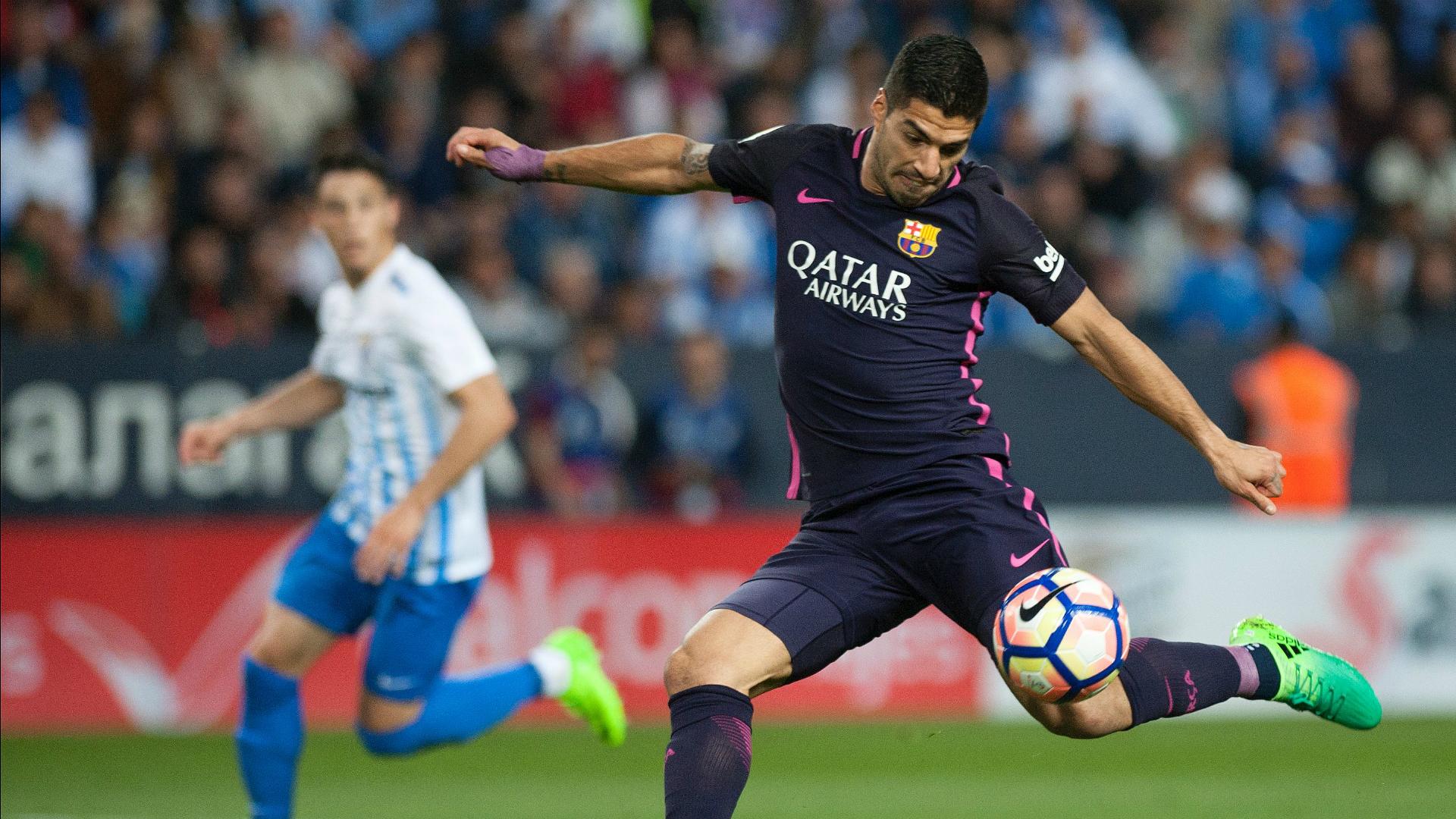 Luis Suarez Malaga Barcelona La Liga