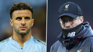 Kyle Walker Jurgen Klopp Man City Liverpool