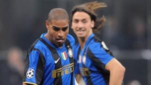 Zlatan Ibrahimovic Adriano Inter Milan 2008
