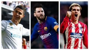 Daftar Topskor La Liga Spanyol 2017/18