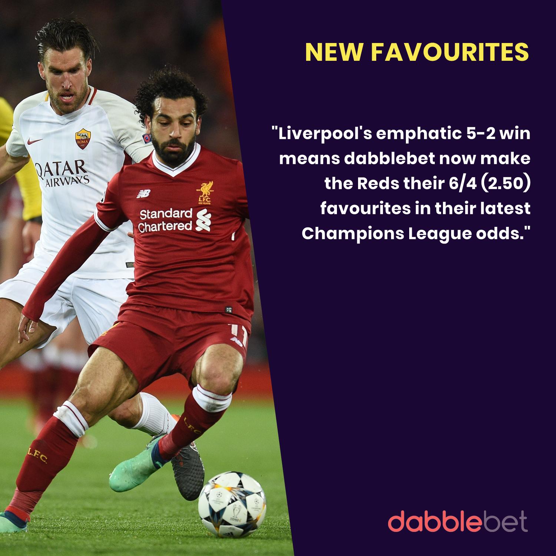 Liverpool v Roma dabblebet latest odds