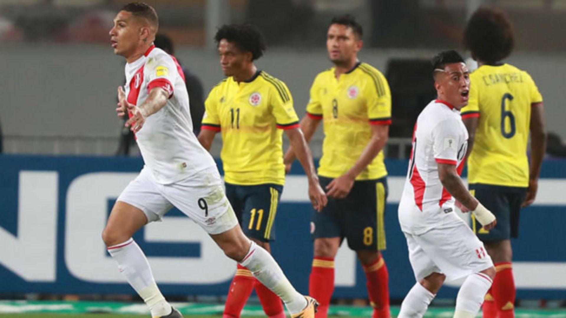 Paolo Guerrero Peru Colombia Eliminatorias