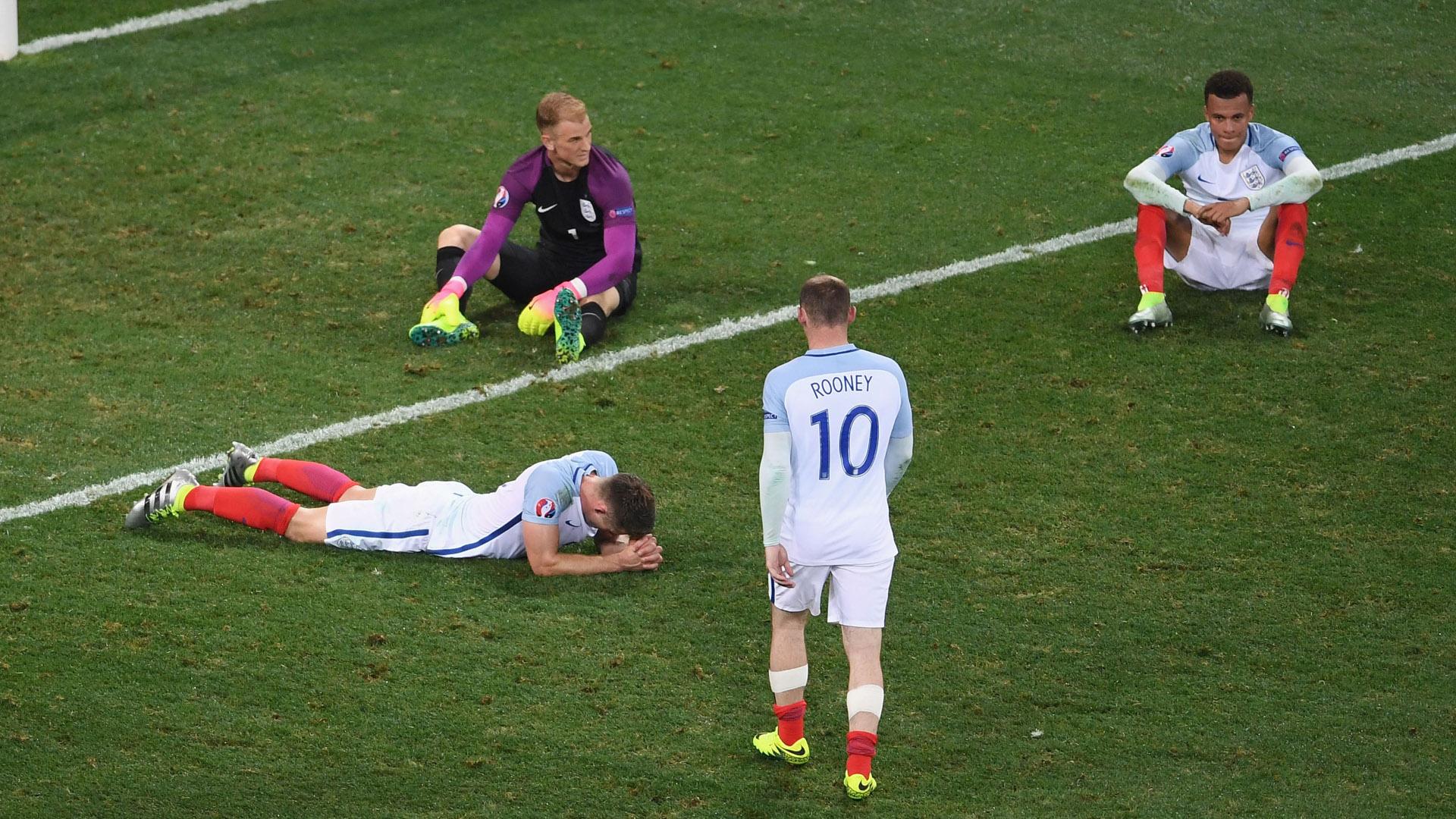 Gary Cahill Joe Hart Dele Alli Wayne Rooney England Euro 2016