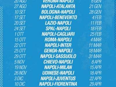 Napoli Calendario.Calendario Napoli Serie A 2017 2018 Partite E Date Goal Com