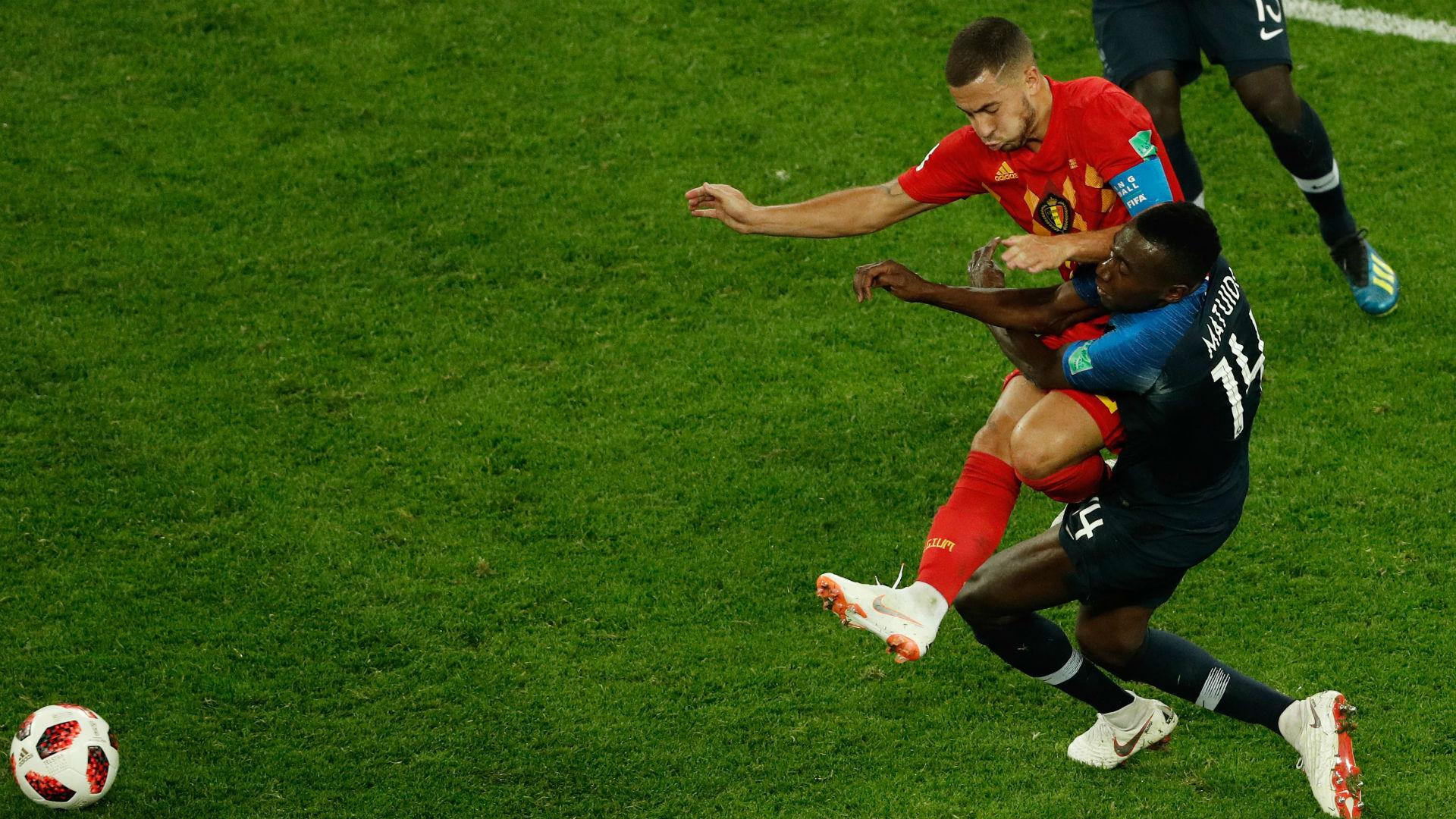 Blaise Matuidi France Eden Hazard Belgium