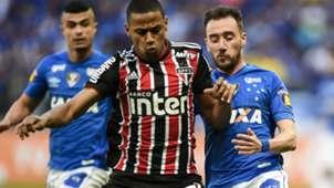 Bruno Alves Mancuello Cruzeiro São Paulo Brasileirão 29 07 2018