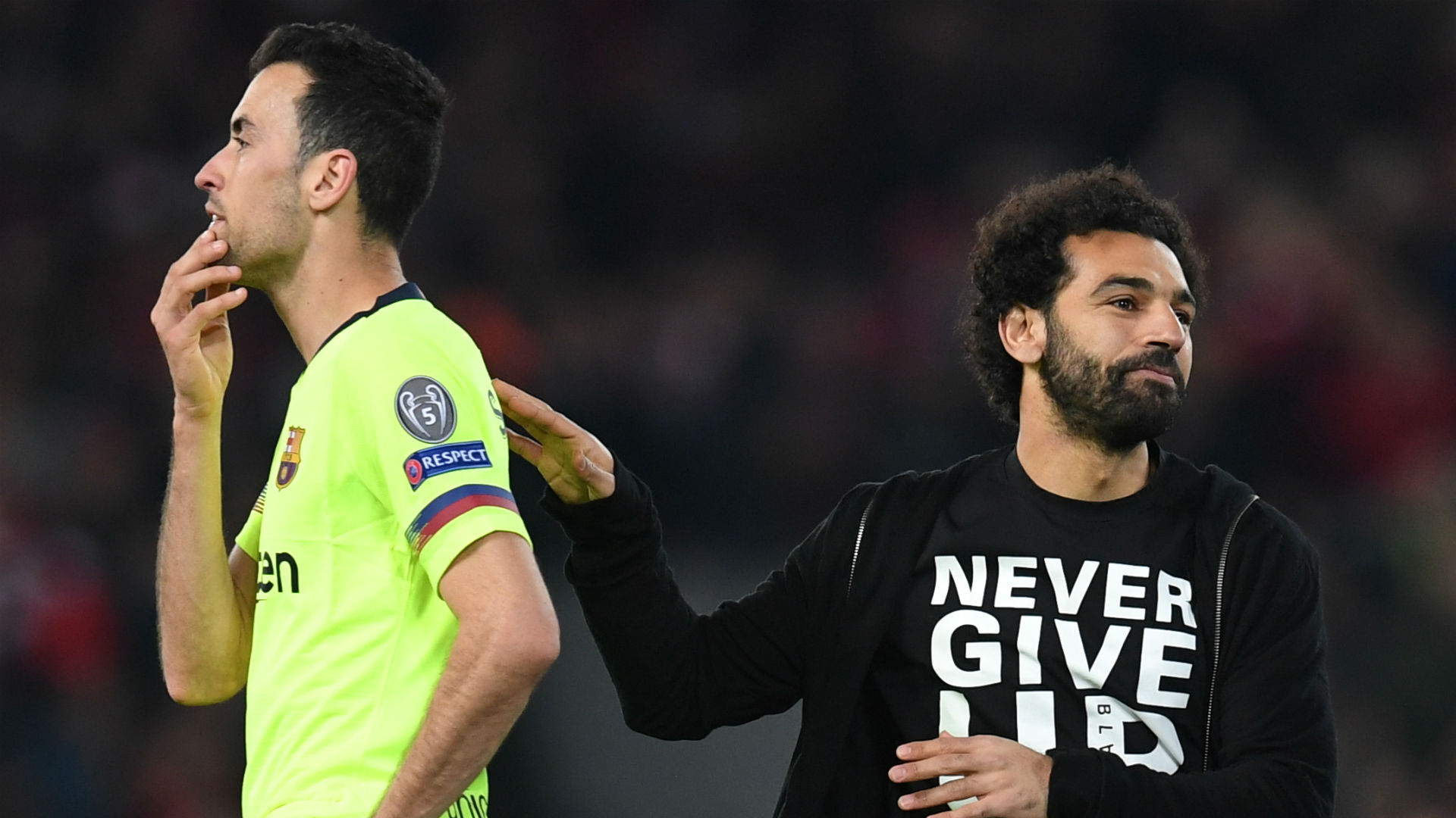 Mohamed Salah Sergio Busquets Barcelona Liverpool Champions League 2019