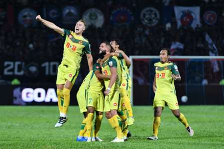 Kedah players celebrate beating JDT 20/1/2017