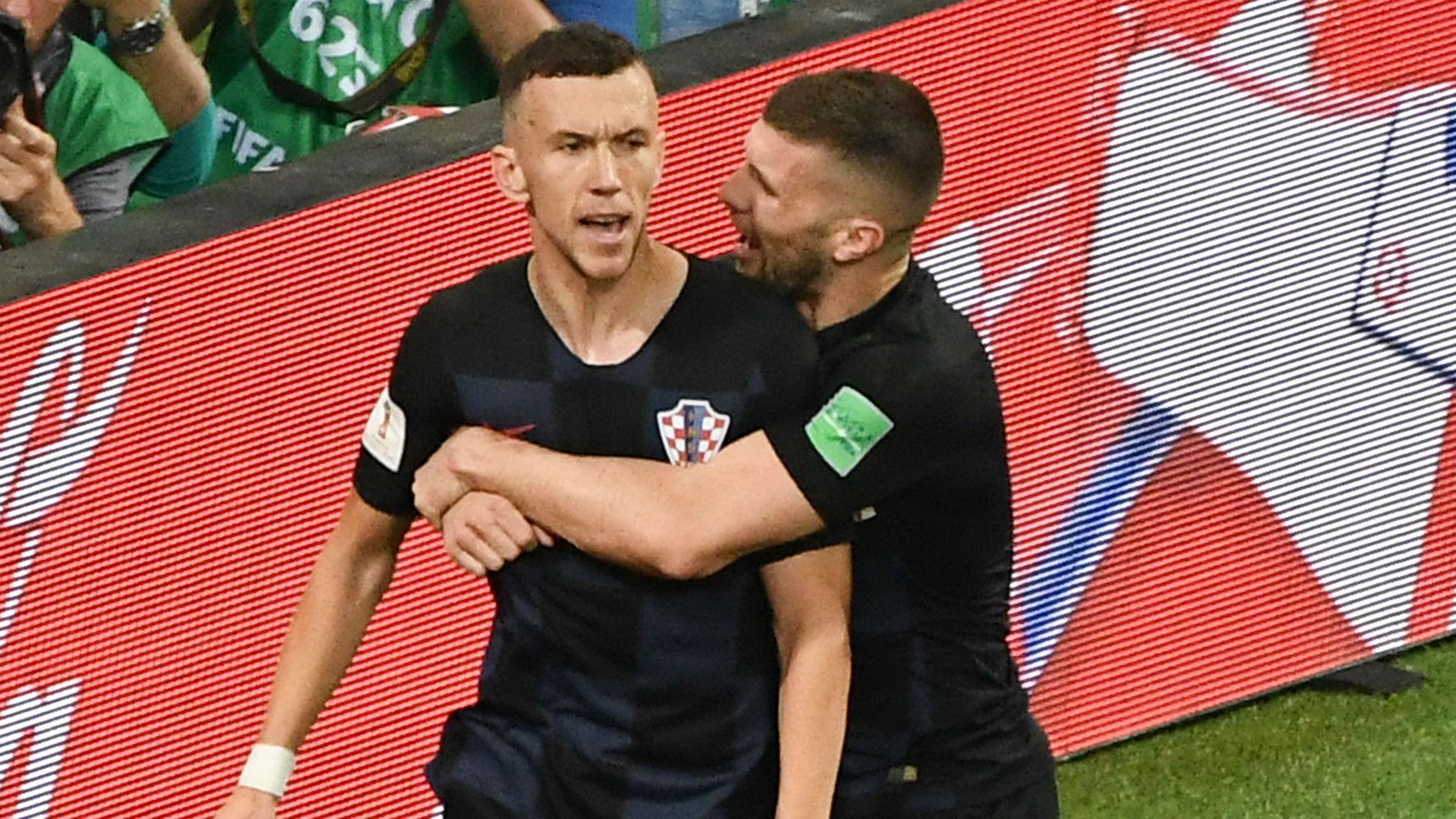 croatia england - ivan perisic ante rebic goal - world cup - 11072018
