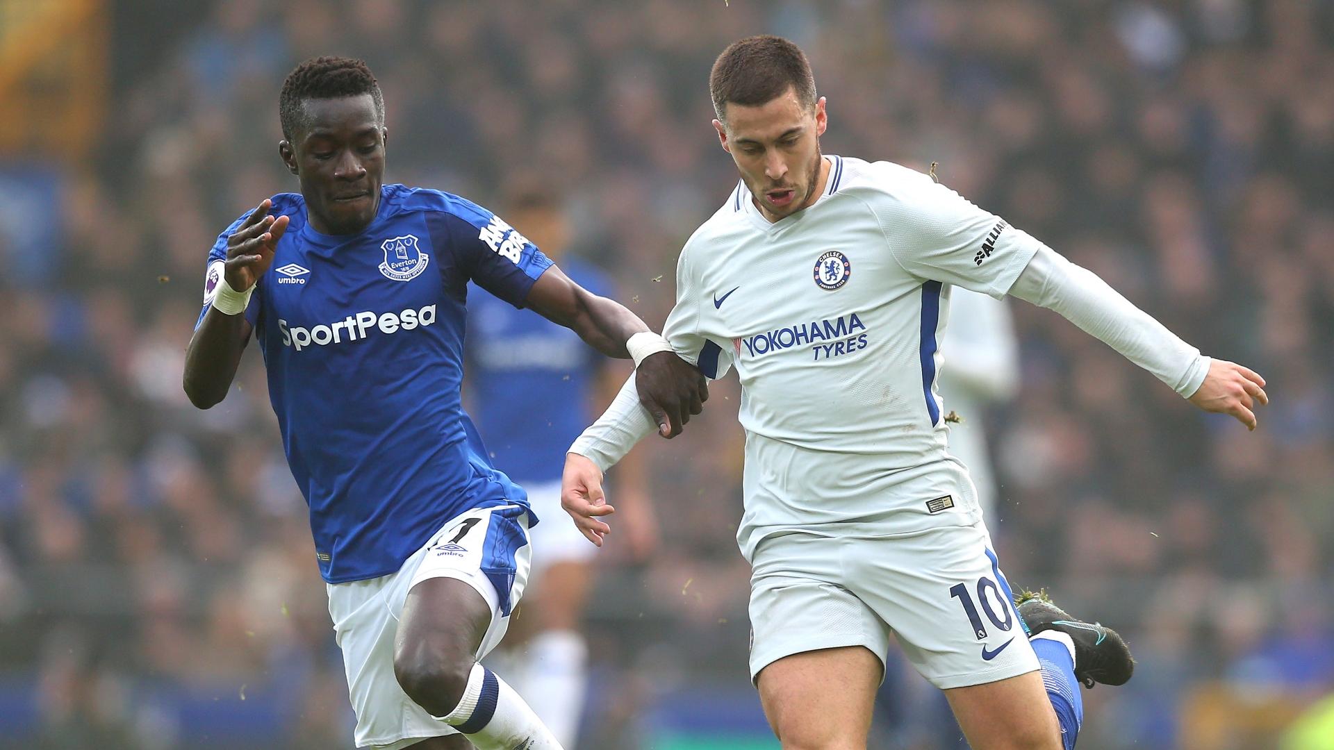Idrissa Gana Gueye, Eden Hazard, Everton vs Chelsea
