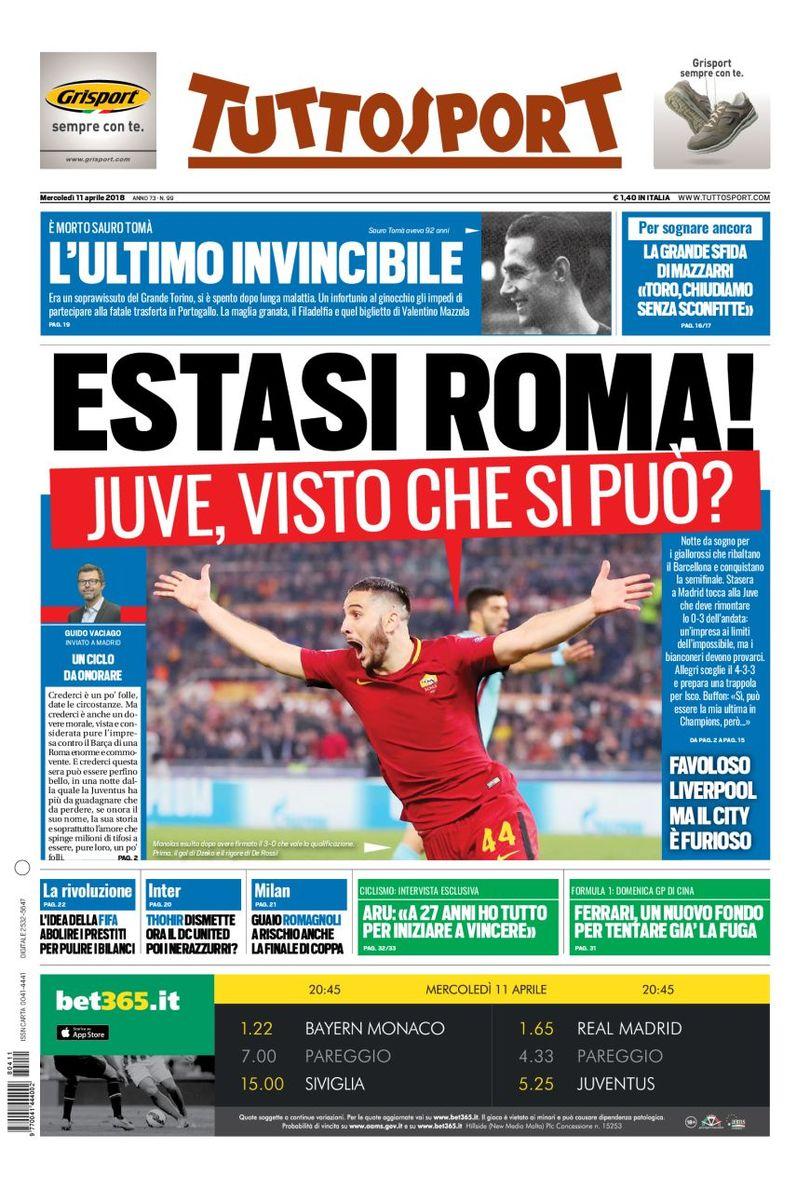 Tuttosport cover 11/04