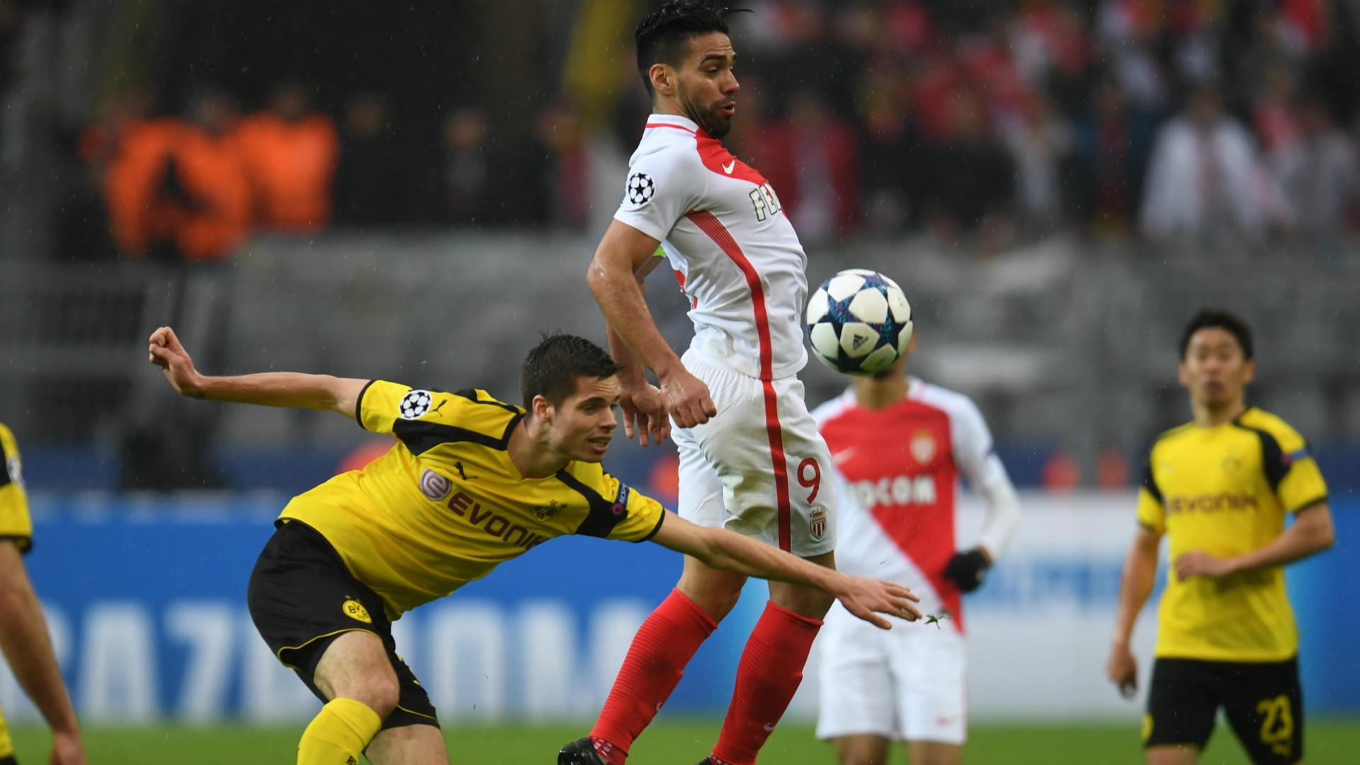 Radamel Falcao Monaco Borussia Dortmund 12042017