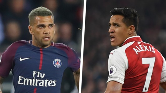 Dani Alves Alexis Sanchez Split