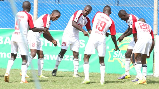 Ulinzi Stars players celebrate.