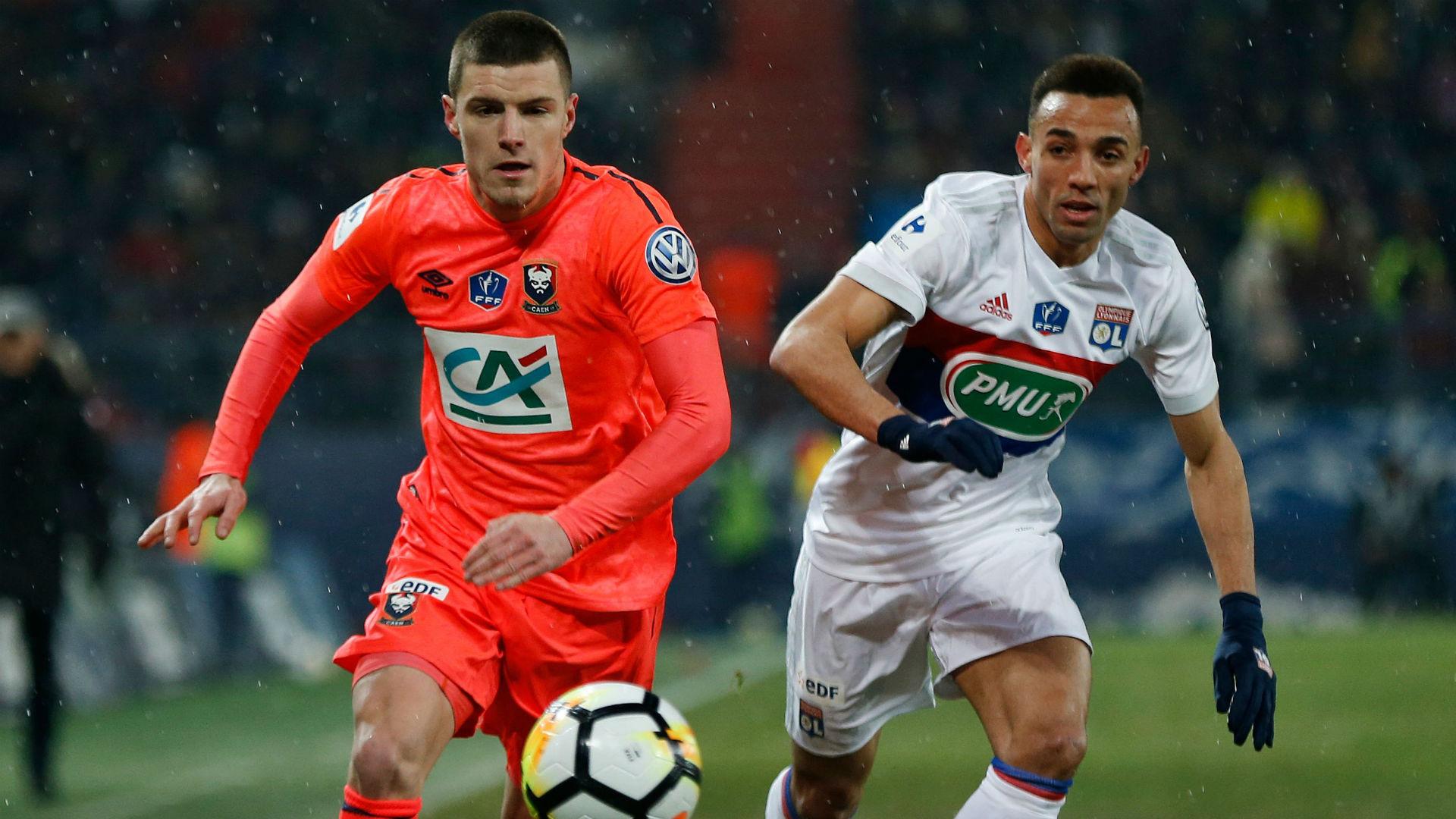 Frederic Guilbert Fernando Marçal Caen Lyon Ligue 1 01032018