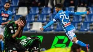 Lorenzo Insigne celebrating Sassuolo Napoli