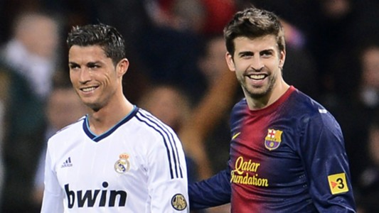 Cristiano Ronaldo Gerard Pique Real Madrid Barcelona