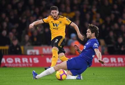 Matt Doherty & Marcos Alonso - Wolverhampton Wanderers v Chelsea