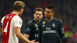 Casemiro De Ligt Real Madrid Ajax