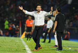 Johor Darul Ta'zim head coach Benjamin Mora reacts during his team's match against Kedah 20/1/2017