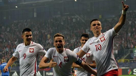 Polonia celebrating Poland U21 Slovakia U21 UEFA U21 Championship