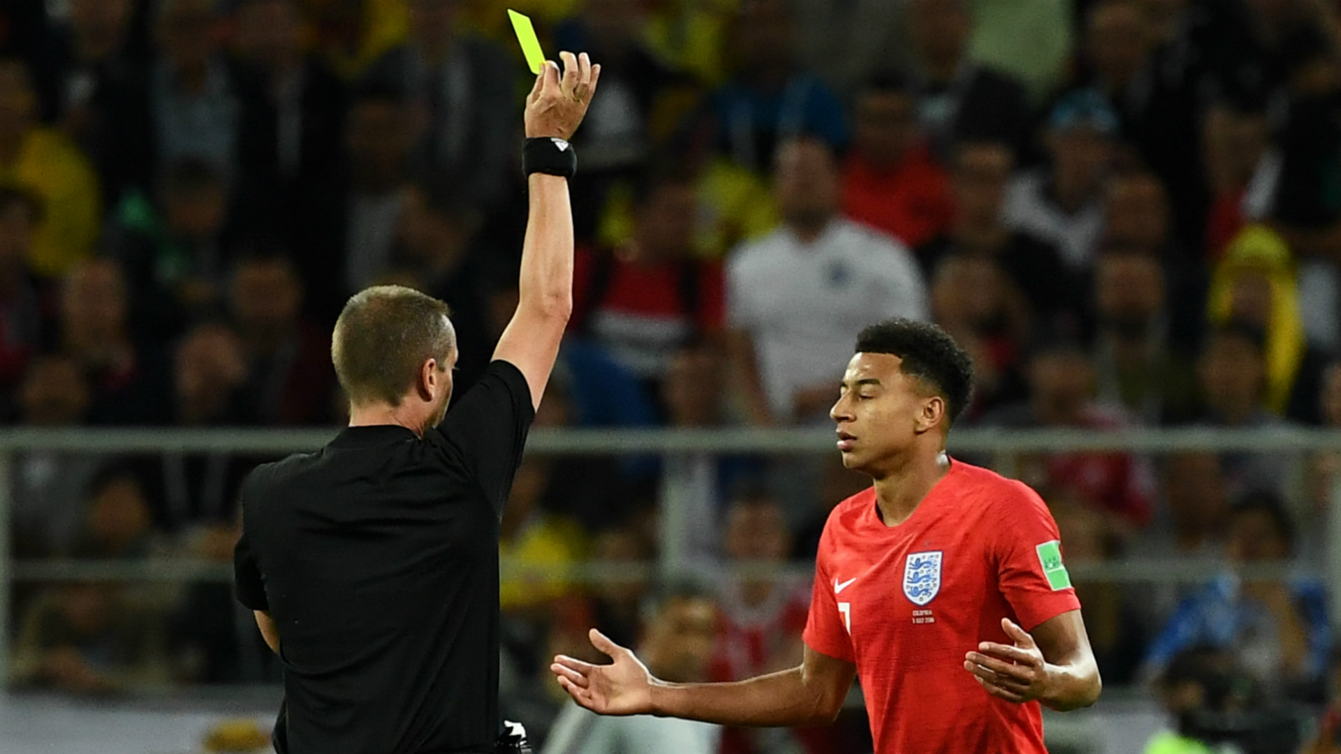 Jesse Lingard Yellow Card World Cup England Colombia