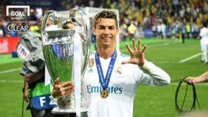 Cristiano Ronaldo| Real Madrid| 2018 com logo clear