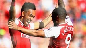 Pierre-Emerick Aubameyang Alexandre Lacazette Arsenal 2017-18