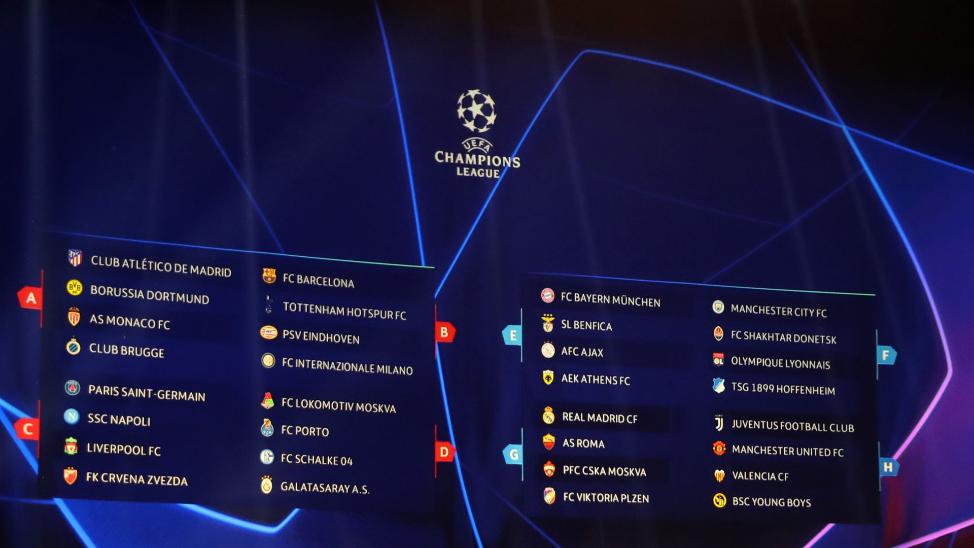 Roma Calendario Europa League.Gironi Champions League 2018 2019 Calendario Risultati E