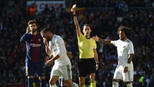 Dani Carvajal expulsado Real Madrid Barcelona El Clásico LaLiga 23122017