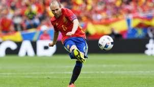 Andres Iniesta Spain Czech Republic Euro 2016