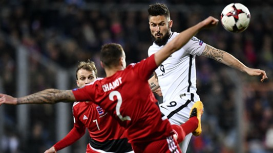 Olivier Giroud Maxime Chanont Luxembourg France World Cup Qualifiers 25032017