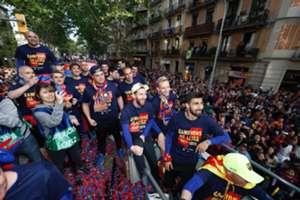 Barcelona bajnoki cím ünneplés