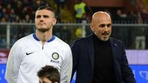 Mauro Icardi Luciano Spalletti Genoa Inter