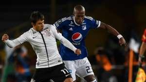 Felipe Banguero Angel Romero Millonarios Corinthians 28022018 Copa Libertadores