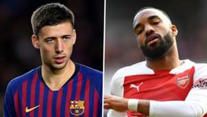 Clement Lenglet Alexandre Lacazette Barcelona Arsenal 2018-19