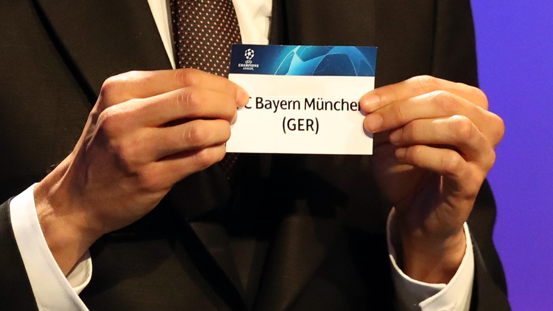 Champions League Draw Bayern München 30082018