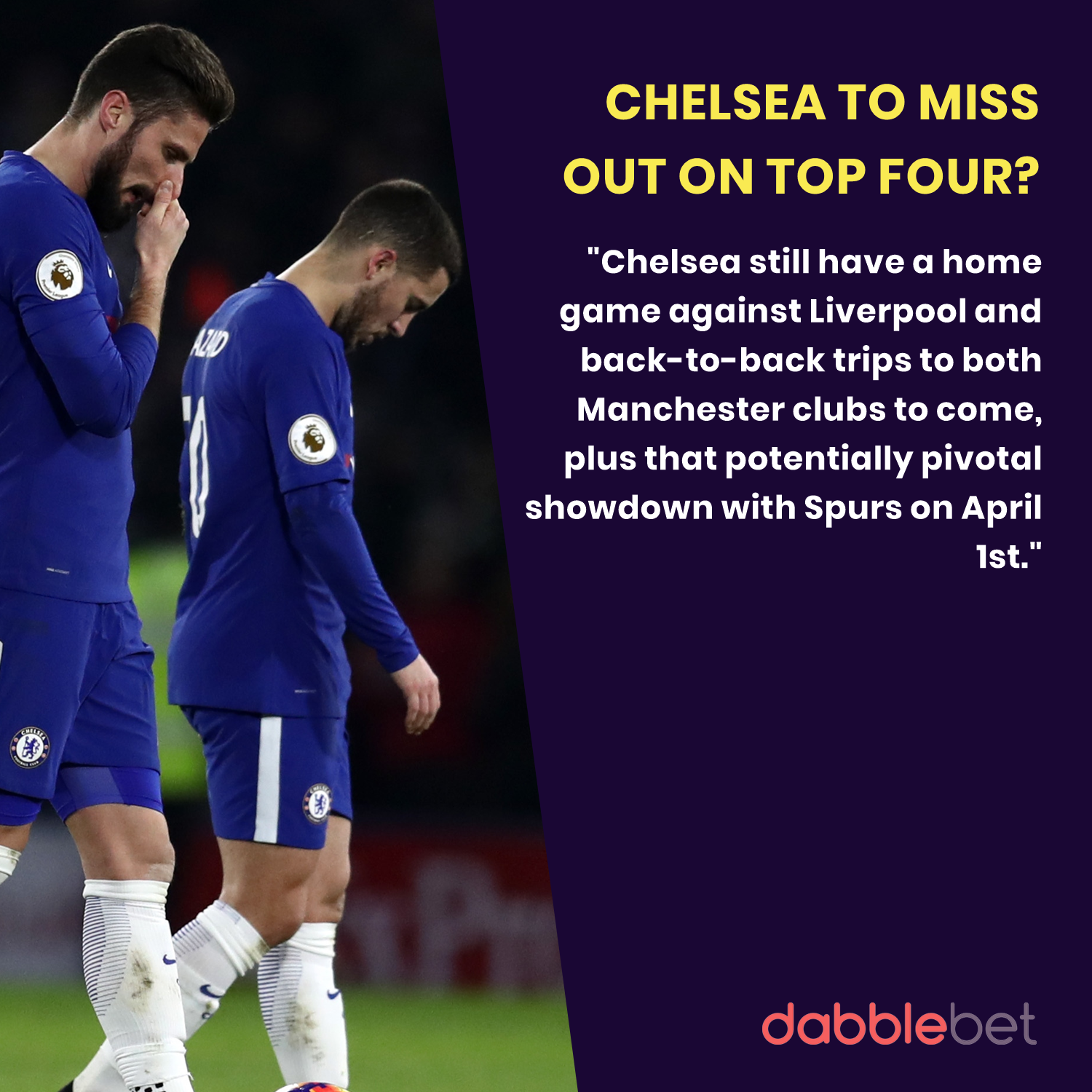 GFX Chelsea to miss out on top four