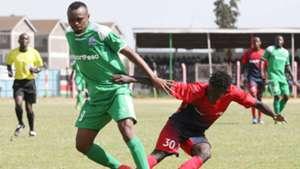 Gor Mahia striker Jacques Tuyisenge v AFC Leopards.