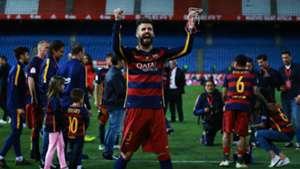 Gerard Pique Barcelona Copa del Rey