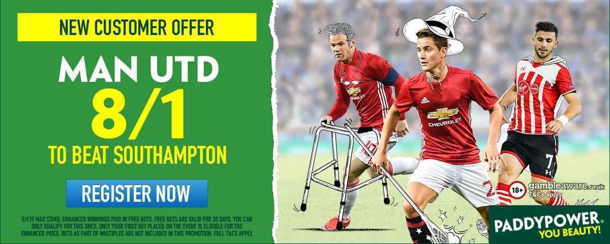 GFX Southampton Manchester United enhanced betting