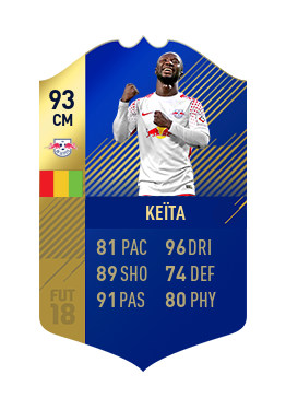 FIFA 18 Bundesliga Team of the Season Naby Keita
