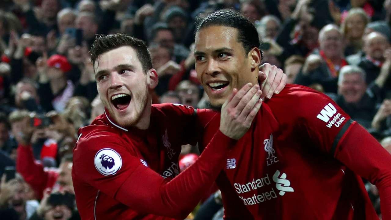 Andrew Robertson Virgil van Dijk Liverpool 2018-19