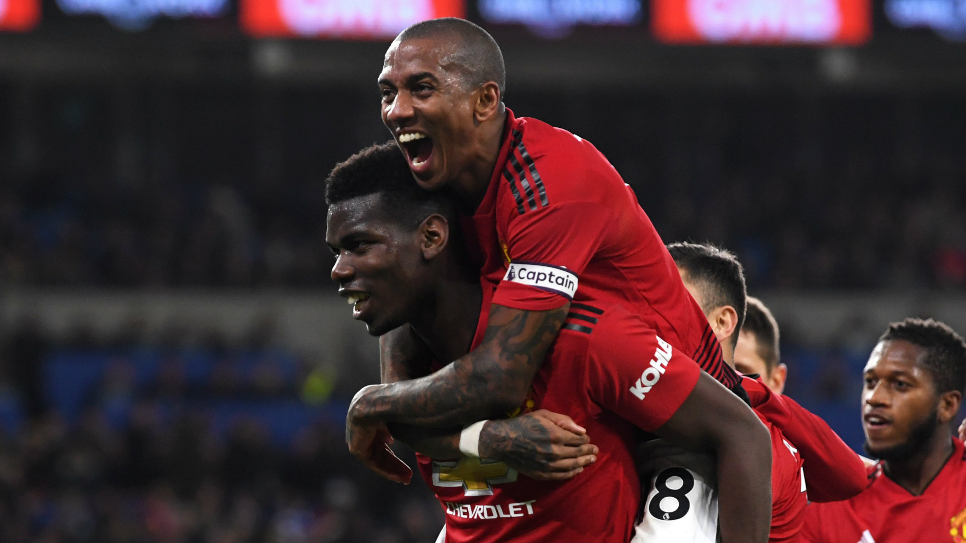 Paul Pogba Ashley Young Cardiff vs Manchester United Premier League 2018-19