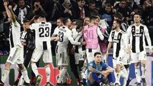 Juventus celebrating Atletico Madrid