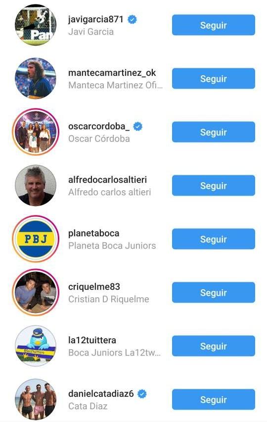 Riquelme Seguidos Cuenta Instagram